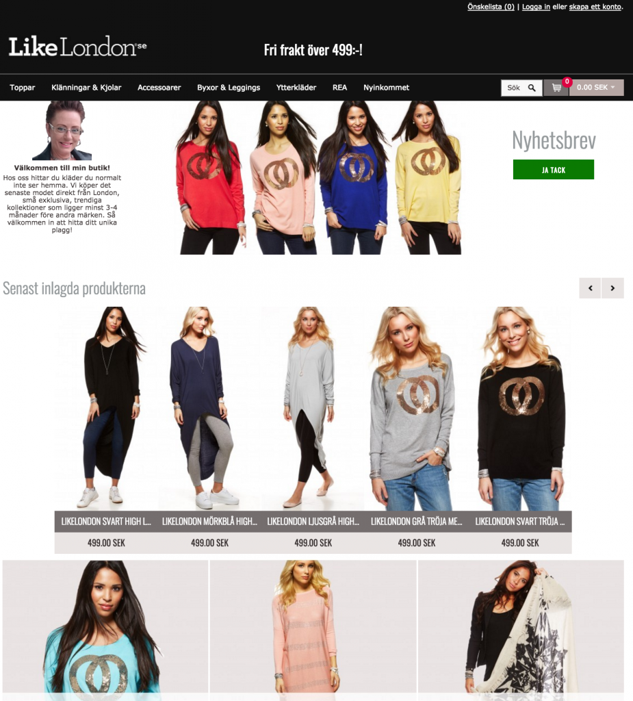 webbshop likelondon